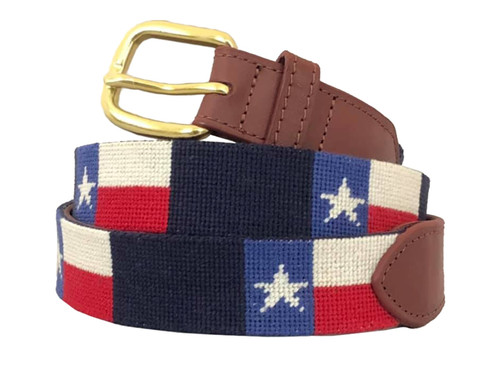 Texas Needlepoint Belt