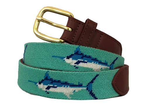 Marlin Needlepoint Belt