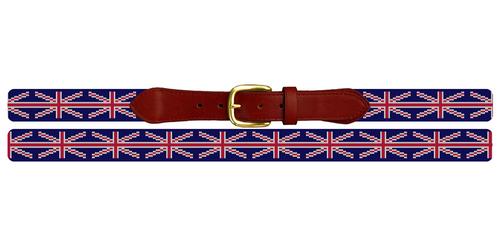 Union Jack Flag Needlepoint Belt