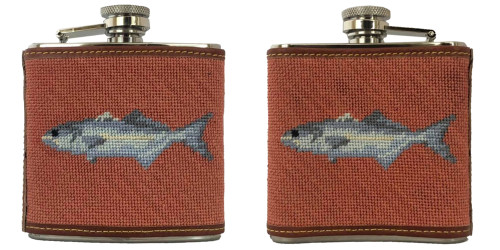 Fish Needlepoint Flask