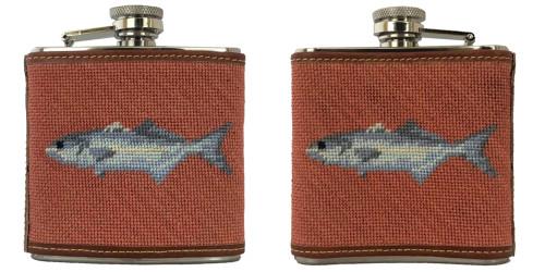 Fish Needlepoint Flask