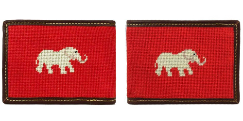 Elephant Needlepoint Wallet