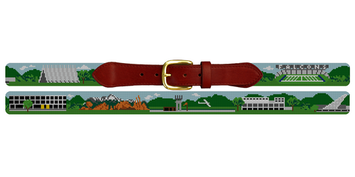 Colorado Springs Landscape Needlepoint Belt United States Air Force Academy