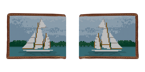 Classic Sailing Needlepoint Wallet