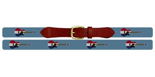 American Guitar Needlepoint Belt