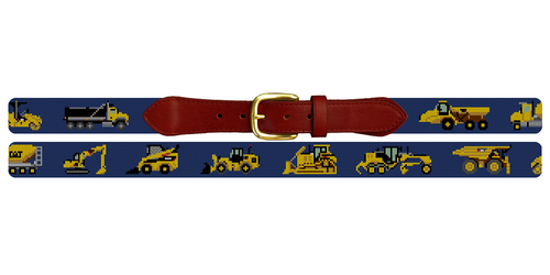 Heavy Equipment Needlepoint Belt