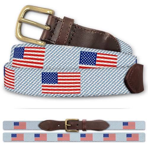 Custom American Flag Classic Cotton Belt