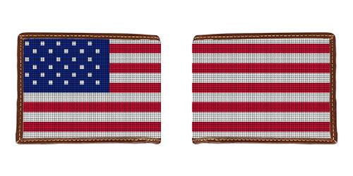 Patriotic US Flag Needlepoint Wallet