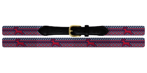 Reindeer Needlepoint Belt