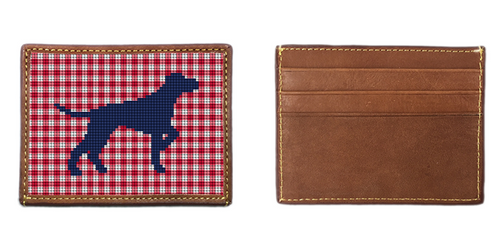 All American Lab Needlepoint Card Wallet