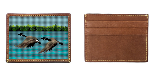 Canadian Goose Needlepoint Card Wallet