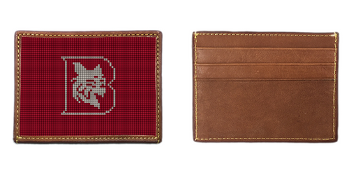 Bates College Needlepoint Card Wallet