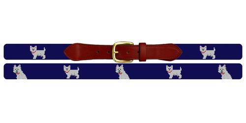 West Highland Terrier Needlepoint Belt
