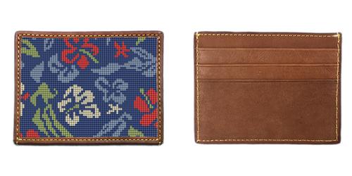 Aloha Hibiscus Needlepoint Card Wallet