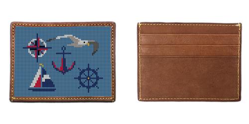 Nautical Needlepoint Card Wallet