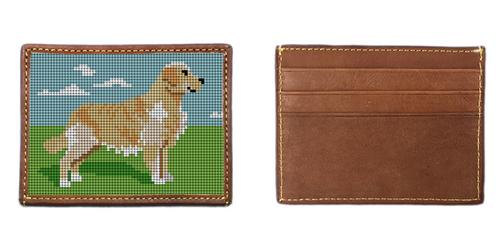 Golden Retriever Needlepoint Card Wallet