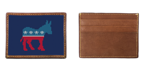 Democratic Needlepoint Card Wallet