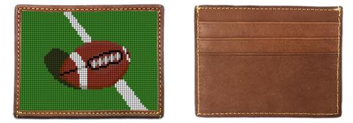 Football Needlepoint Card Wallet