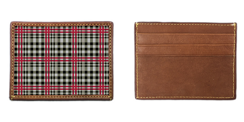 Classic Plaid Needlepoint Card Wallet