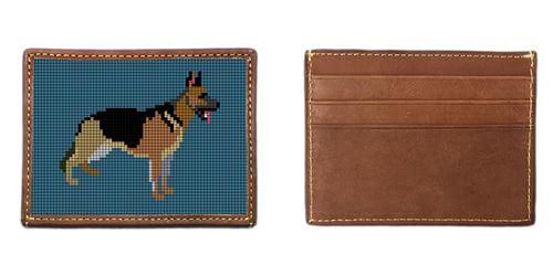 German Shepherd Needlepoint Card Wallet