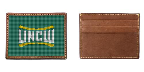 University of North Carolina Wilmington Needlepoint Card Wallet