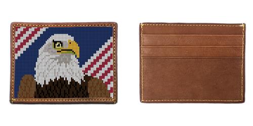 Eagle Needlepoint Card Wallet