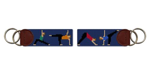 Yoga Needlepoint Key Fob