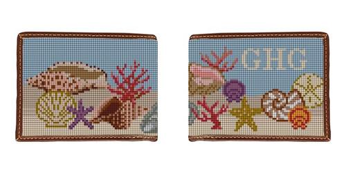 Seashell Needlepoint Wallet