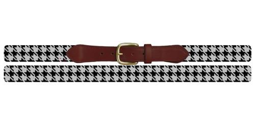 Handsome Houndstooth Needlepoint Belt