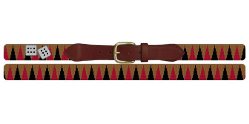 Backgammon Needlepoint Belt