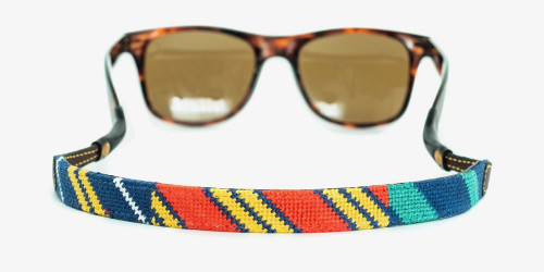 Colorful Diagonals Needlepoint Sunglass Strap