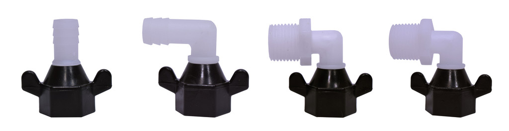 """Eccotemp EccoFlo 1/2"""" Threaded and Barbed Adapters"""