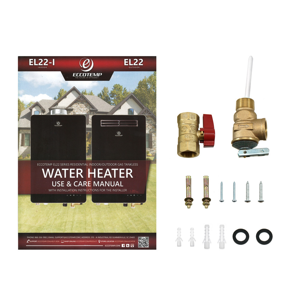 Eccotemp EL22 Outdoor 6.8 GPM Liquid Propane Tankless Water Heater Accessories