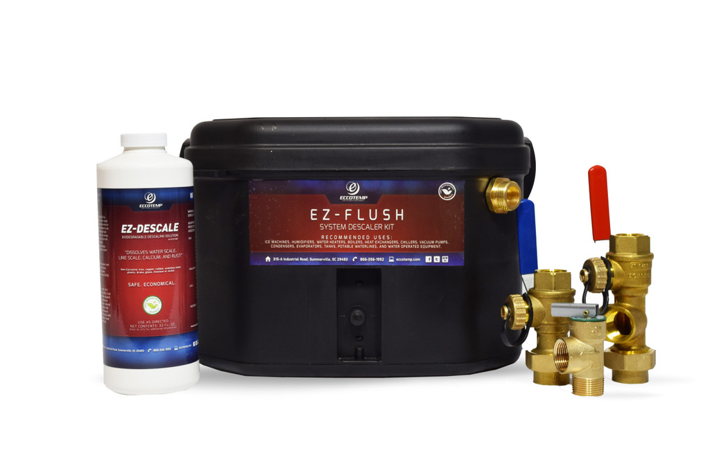 Eccotemp EL22 Outdoor 6.8 GPM Liquid Propane Tankless Water EZ-Flush Descaler Kit