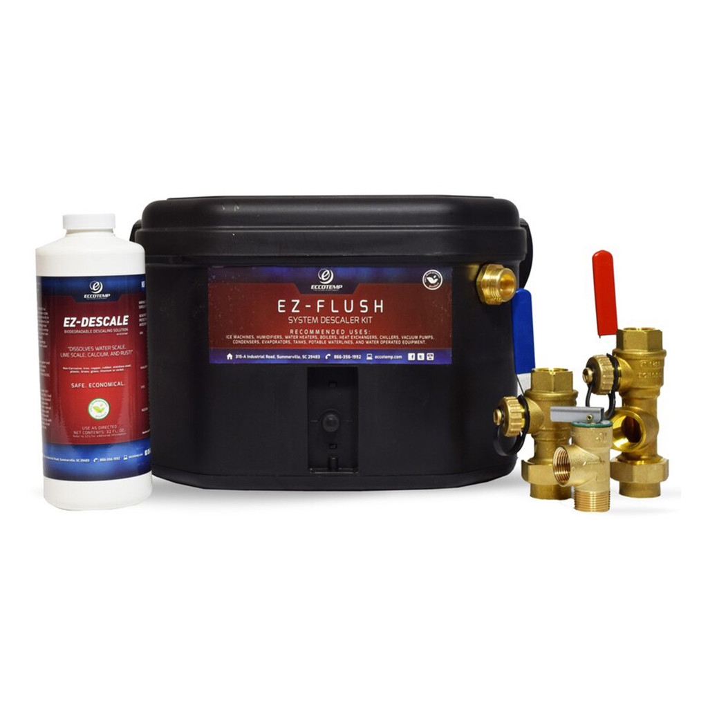 Eccotemp EZ-Flush System Descaler Kit with Jomar Service Valve Kit