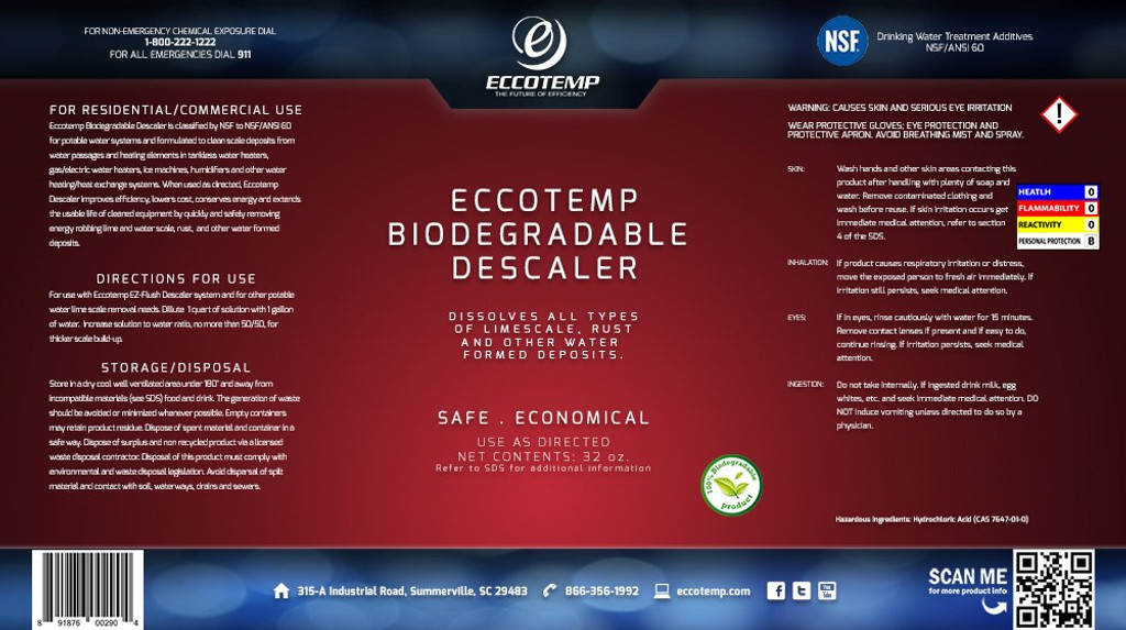 Eccotemp Descaler Solution Banner
