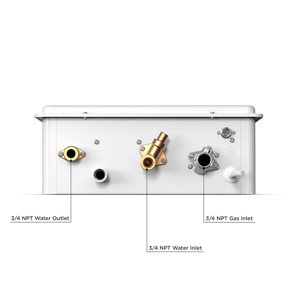 Eccotemp 20HI Indoor 6.0 GPM Liquid Propane Tankless Water Heater Bottom Callout