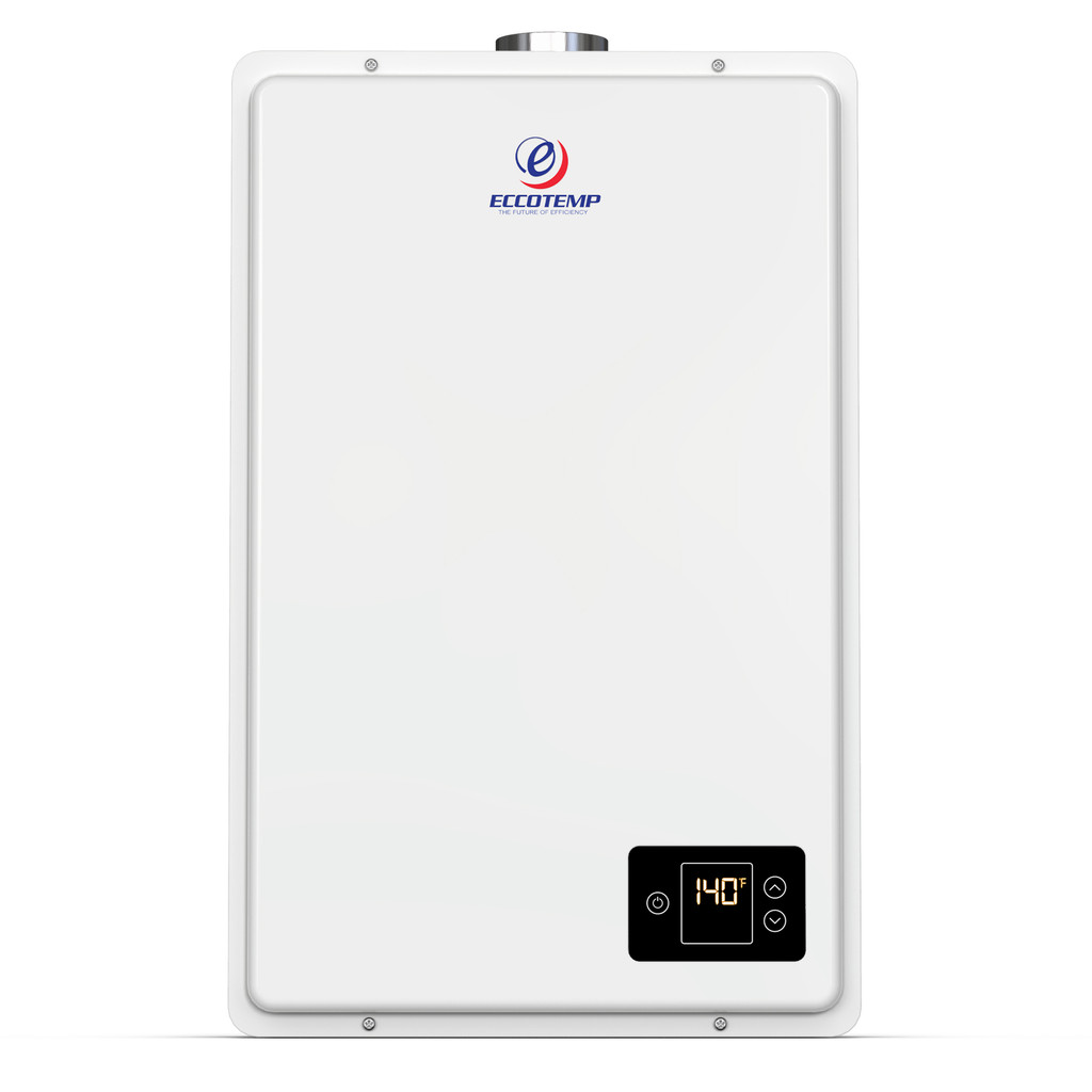 Eccotemp 20HI Indoor 6.0 GPM Natural Gas Tankless Water Heater Front View
