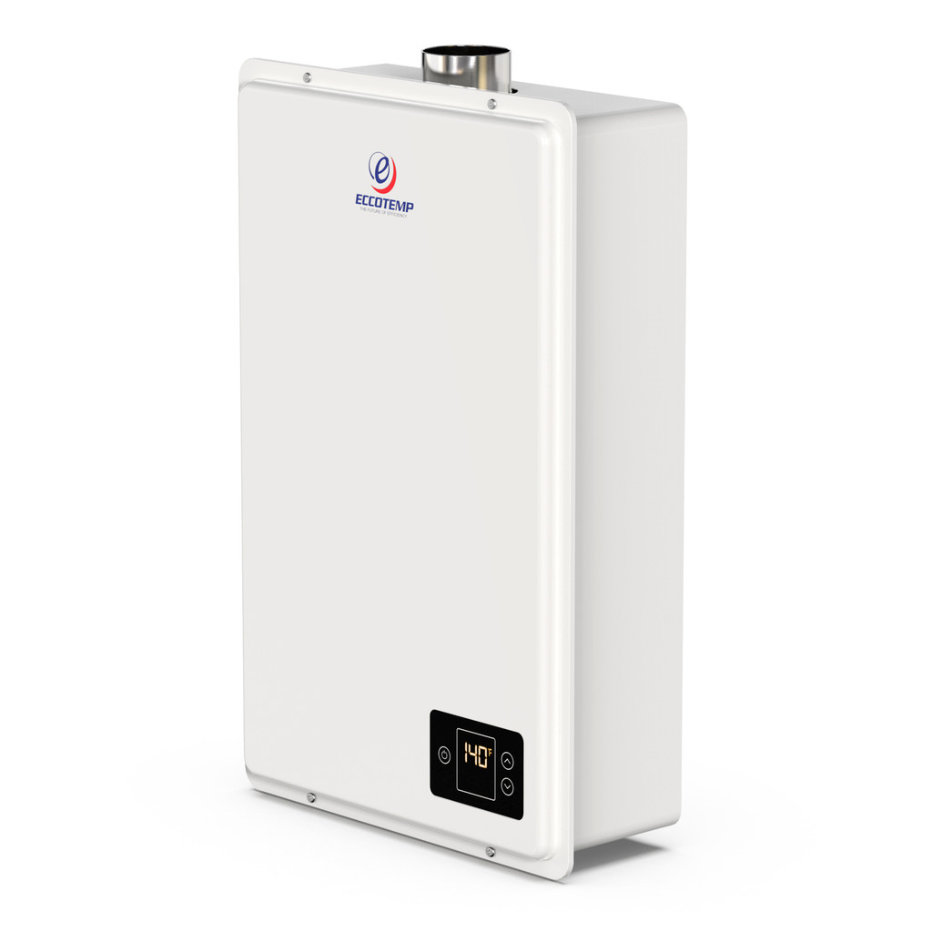 Eccotemp 20HI Indoor 6.0 GPM Natural Gas Tankless Water Heater Side View