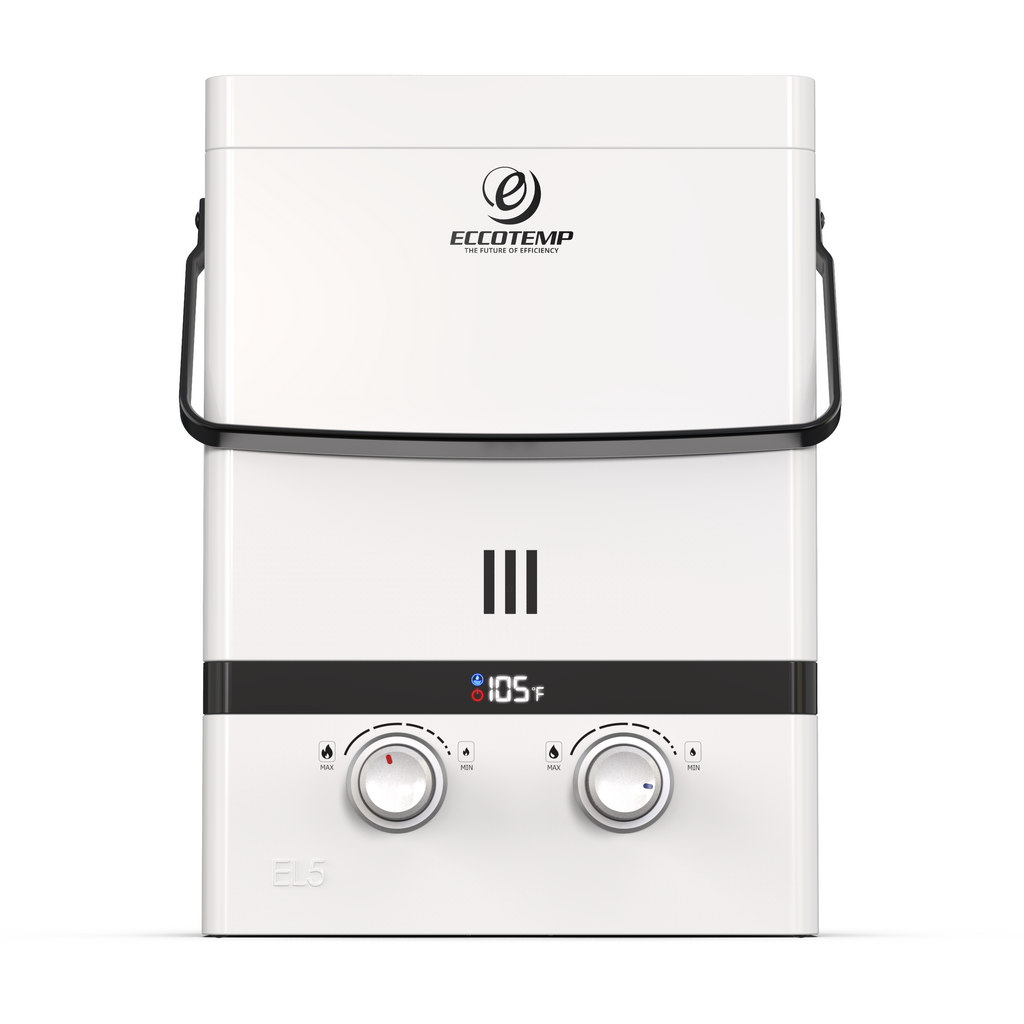 Luxe EL5 Portable Outdoor Tankless Water Heater Front View
