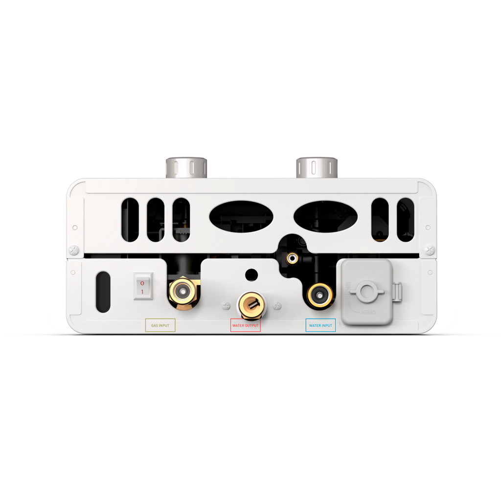 Luxe EL5 Portable Outdoor Tankless Water Heater Bottom View Knobs