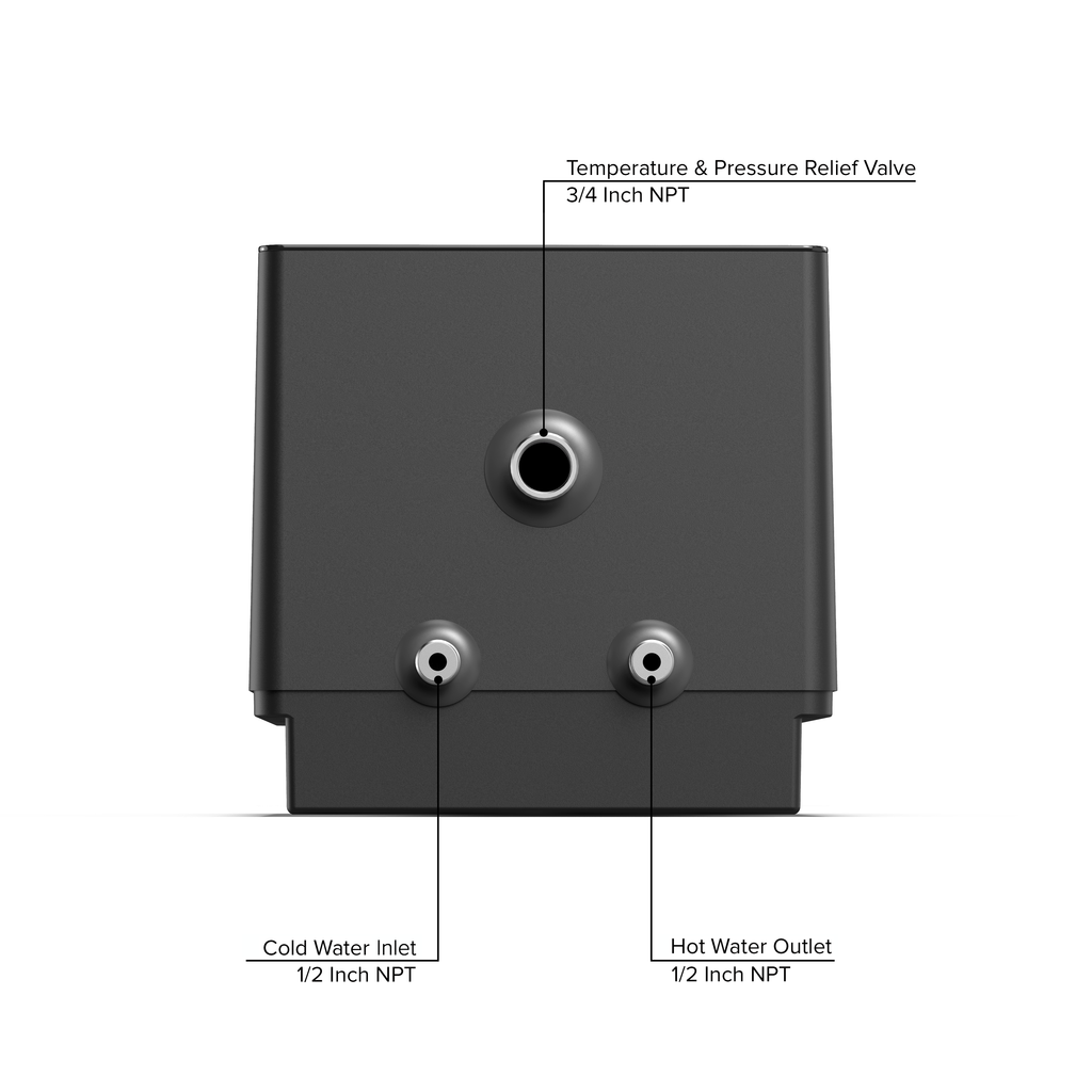 Eccotemp SmartHome 2.5 Gallon Mini Tank Water Heater Top Callout