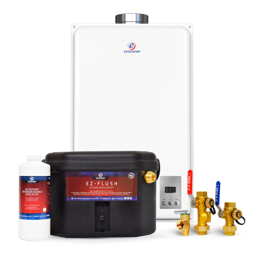 Eccotemp 45HI Indoor 6.8 GPM Liquid Propane Tankless Water Heater Service Bundle