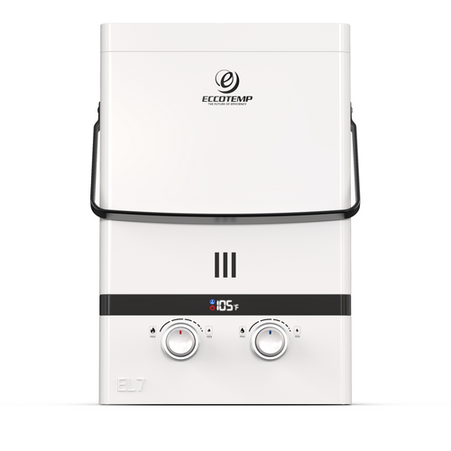 Luxe EL7 Portable Outdoor Tankless Water Heater Front View