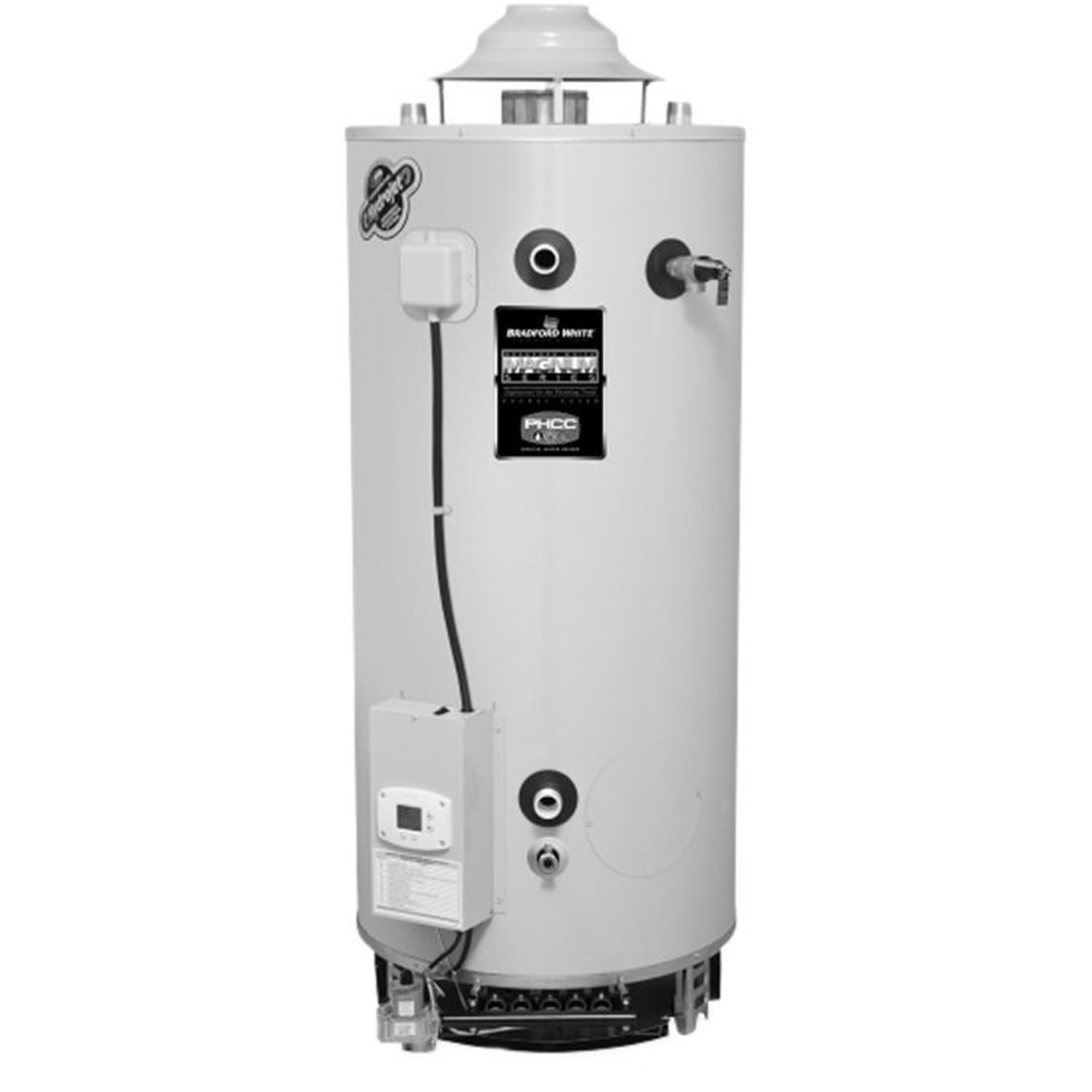 Bradford White Water Heaters >> Bradford White D100l 199 E3n White Magnum Series 100 Gal Commercial Flue Damper Electronic Ignition Energy Saving Gas Water Heater