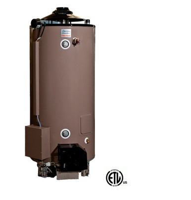 American Standard Plc 100 76 As Water Heater 100 Gallon Commercial Gas 76 000 Btu 4 Year Warranty Uln Models Intended For California And Texas Commercial Water Heater Sales Eplumbing Products Inc