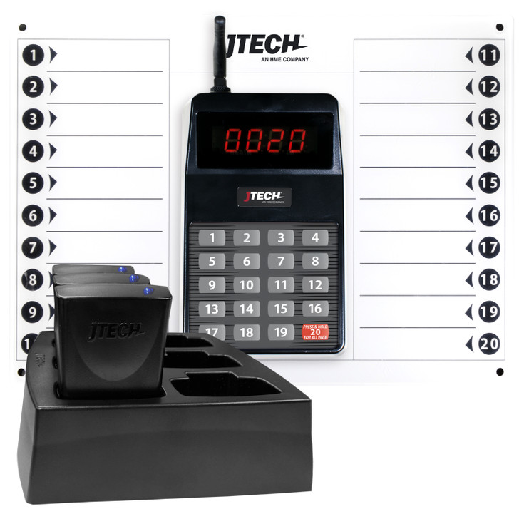 Rugged Server & Staff Paging System with 3 pagers
