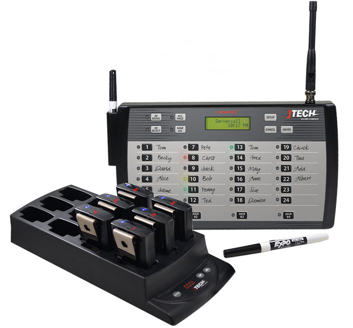 JTECH ServerCall® with 24 Pagers