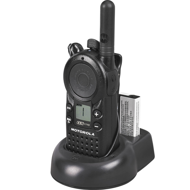 Motorola CLS1110 Two-Way Radio & Charger