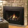 Kingsman Idv43 direct vent gas fireplace insert W/ Traditional Brick Panels, Fiber Split Oak Log Set